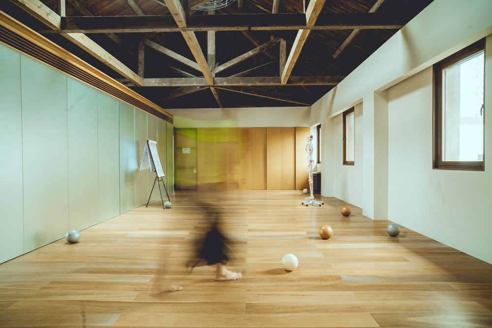 A view of The Living Room, a wellness center in Shanghai. Courtesy of The Living Room
