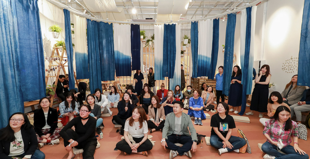 People take part in an event at Creative Shelter, a meditation center in Shanghai, 2021. Courtesy of Huang Xinyi
