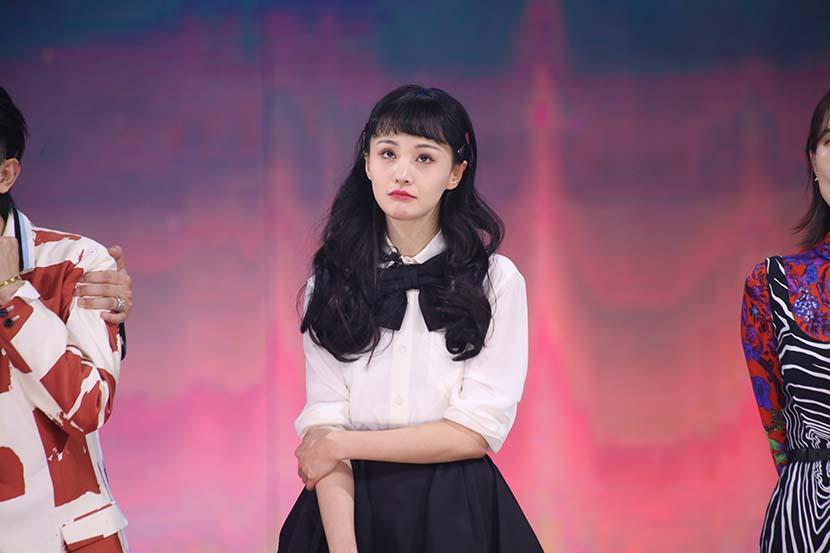 Zheng Shuang during a show in Wuxi, Jiangsu province, Dec. 22, 2020. People Visual