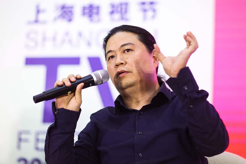Wang Hailin at the Shanghai International Film Festival, June 9, 2016. People Visual