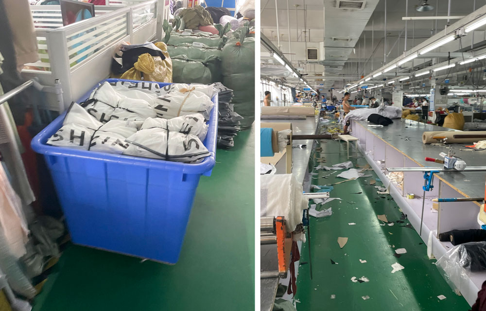 A view of the interior of a factory that works as a direct supplier to Shein, in Guangzhou, Guangdong province, July 2021. Wu Peiyue for Sixth Tone
