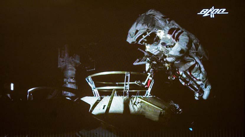 Liu Boming during a spacewalk, July 4, 2021. People Visual