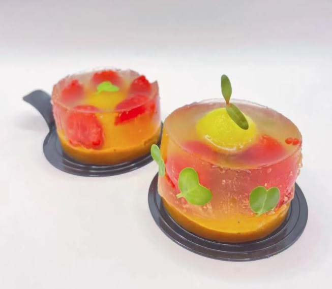 Jelly desserts made from mooncakes. @Steven Yip from the WeChat account of Road to Tomorrow.