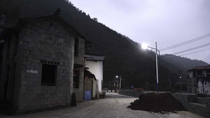 A night view of Zaokeng, Zhejiang province, Jan. 23, 2021. Li Kewen/The Paper