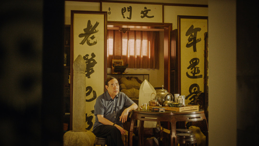 """A still of Jia Pingwa from the documentary """"Swimming Out Till the Sea Turns Blue."""" From Douban"""