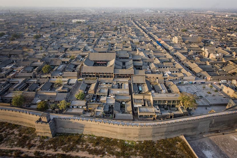 An aerial view of Pingyao Ancient City in Jinzhong, Shanxi province, Oct. 22, 2006. George Steinmetz/Corbis Documentary/VCG