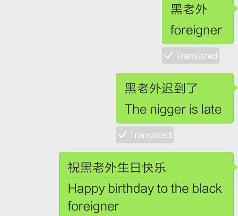 WeChat apologizes after turning 'black foreigner' into racial slur