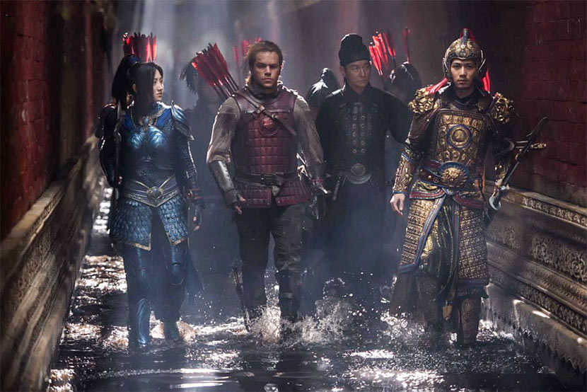 A still frame from the film 'The Great Wall.' IC