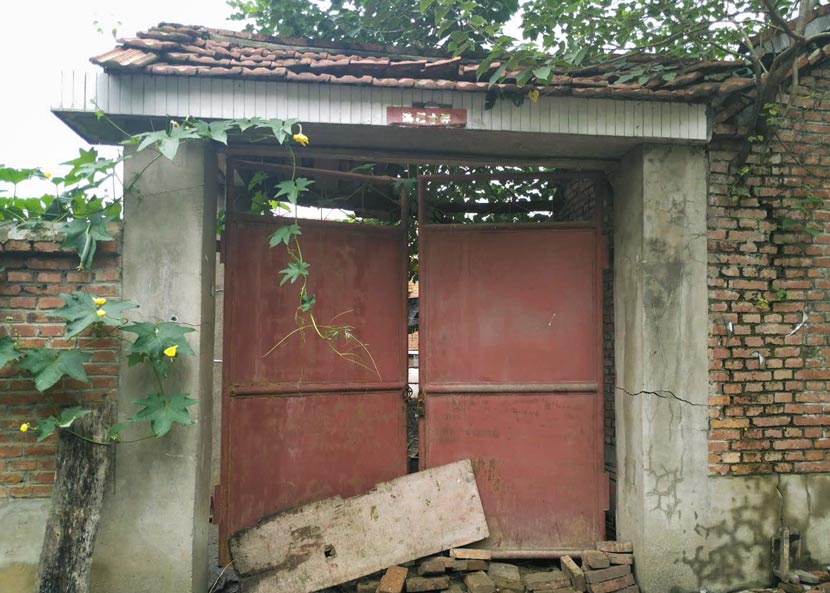 The Feng family home has fallen into disrepair in Liancheng Town, Bengbu, Anhui province, August 2017. Ming Que for Sixth Tone