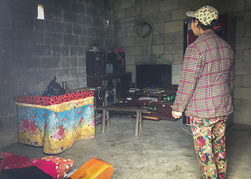 A view of the He family's home in Yanhe County, Guizhou province, November 2017. Shao Ke for Sixth Tone