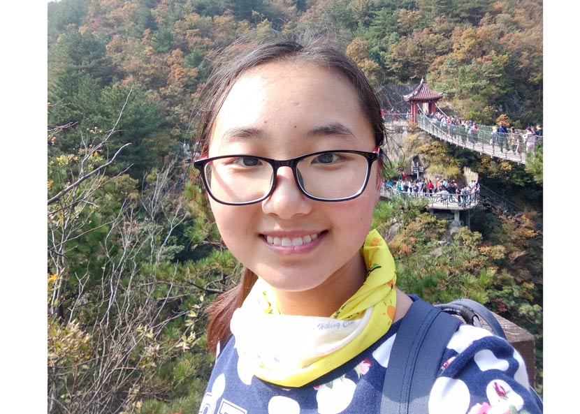 Yuan Xiaoyi's selfie taken in Shaoxing, Zhejiang province, Oct. 29, 2017. Courtesy of Yuan Xiaoyi