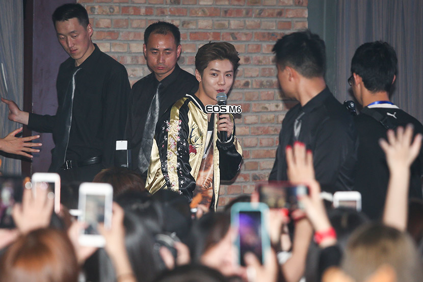 Lu Han greets his fans in Beijing, June 17, 2017. VCG