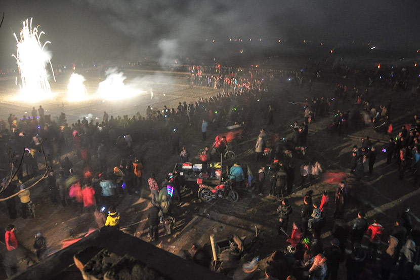 The Wudao fireworks show in Nanyangjiazhuang Village, Feb. 17, 2011. Courtesy of Yang Fengshen