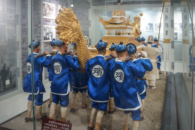 A display showing ancient funeral practices at Shanghai Funeral Museum, March 3, 2018. Fan Yiying/Sixth Tone